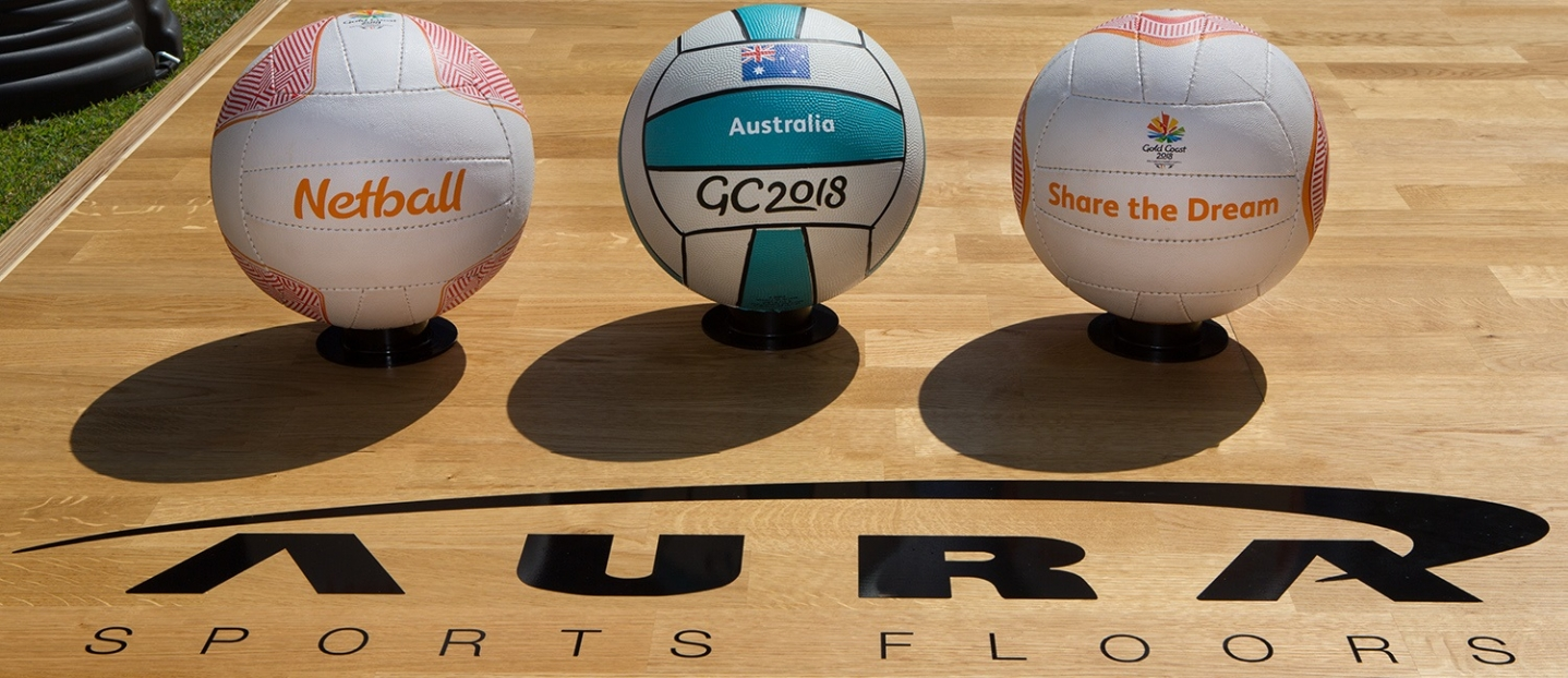 Queensland-based Aura Sports Floors is the Official Basketball and Netball Flooring Supplier for #GC2018