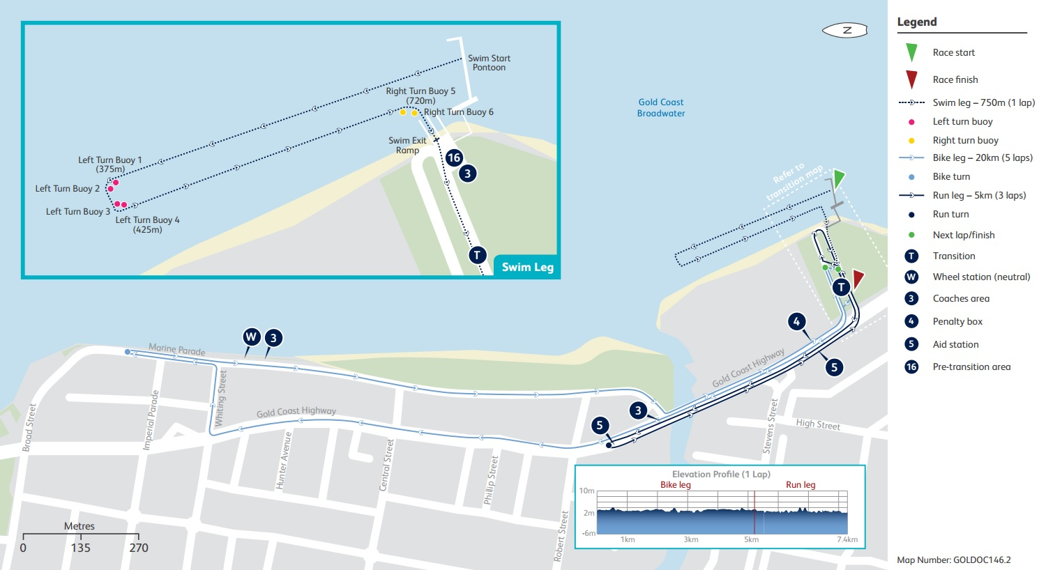 Para Triathlon course map