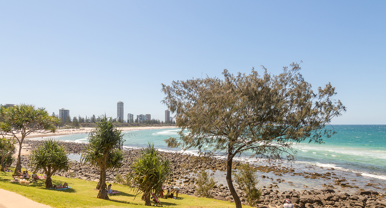 Burleigh is a beautiful spot on the Gold Coast.
