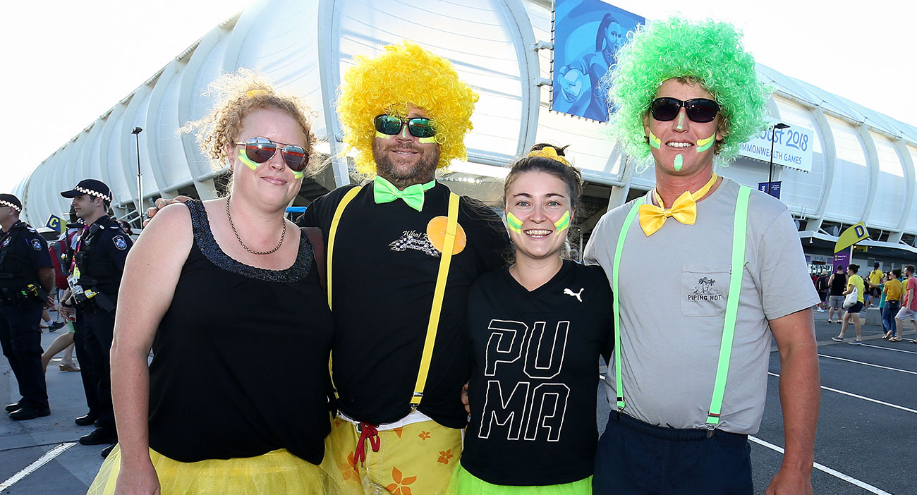 Australian fans at the Rugby Sevens