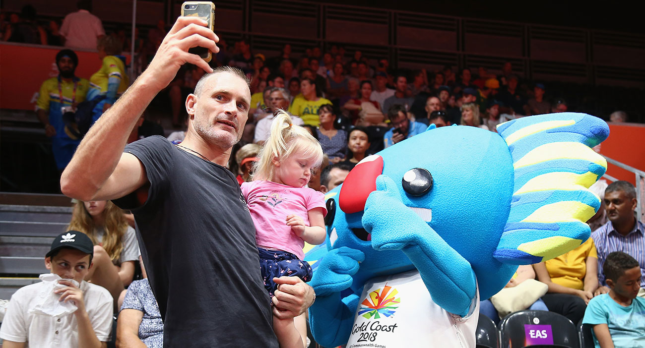 Fans get a photo with Borobi