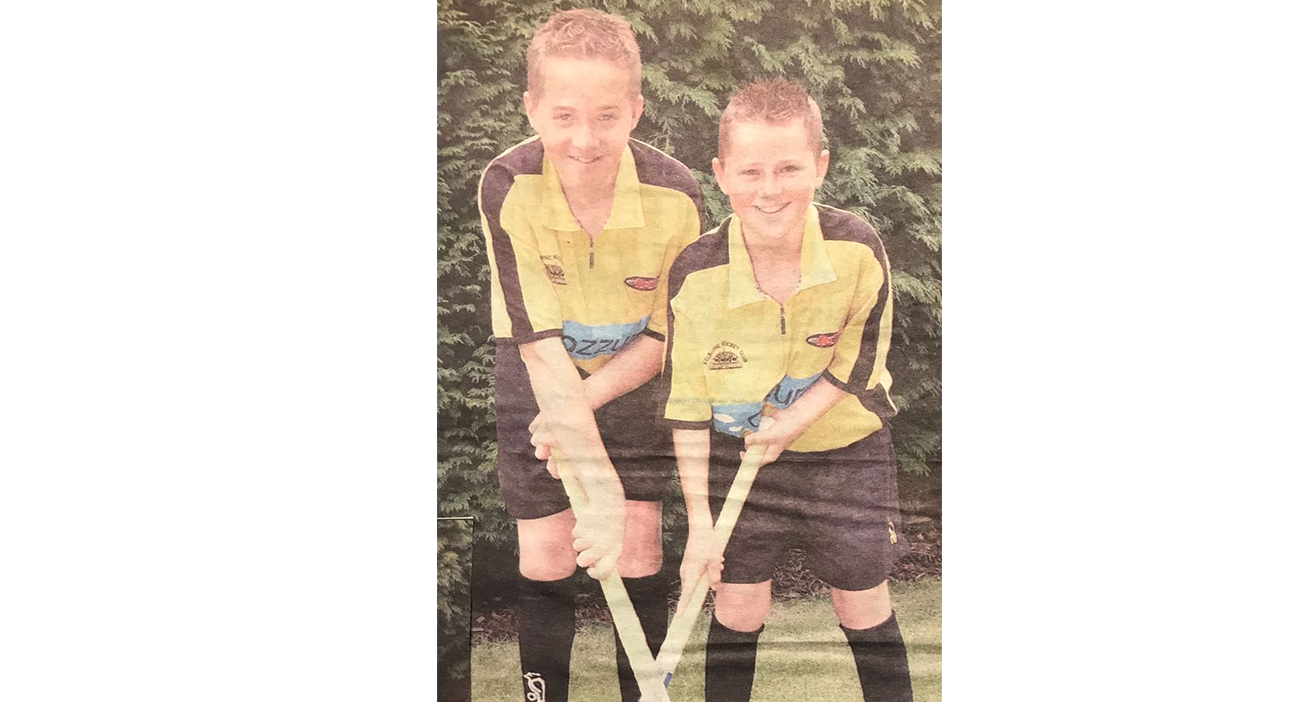 David and Alan Forsyth played together growing up at Kelburne Hockey Club.