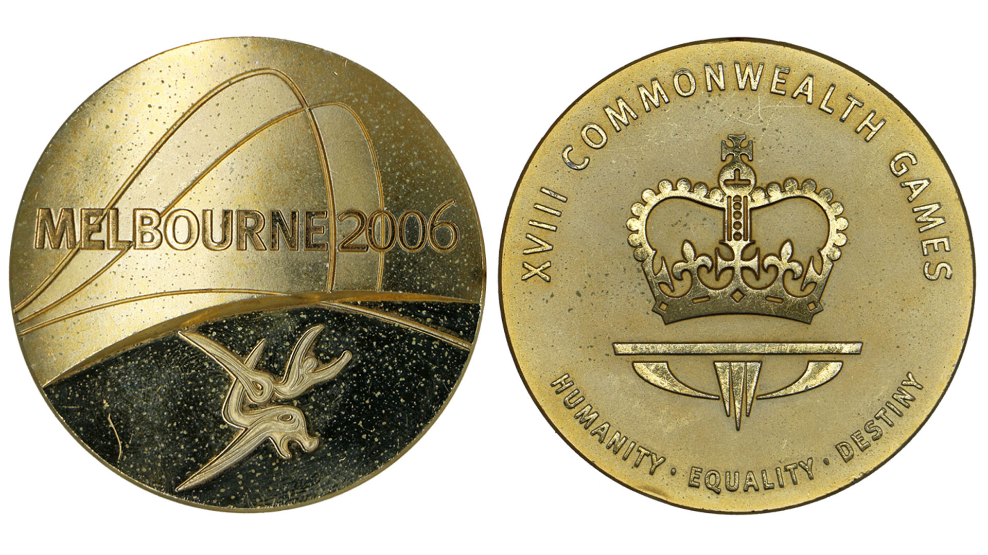Australia's two-time Olympian and world record breaking swimmer, Brenton Rickard's 2006 Commonwealth Games gold medal from the men's 4x100m Medley Relay.