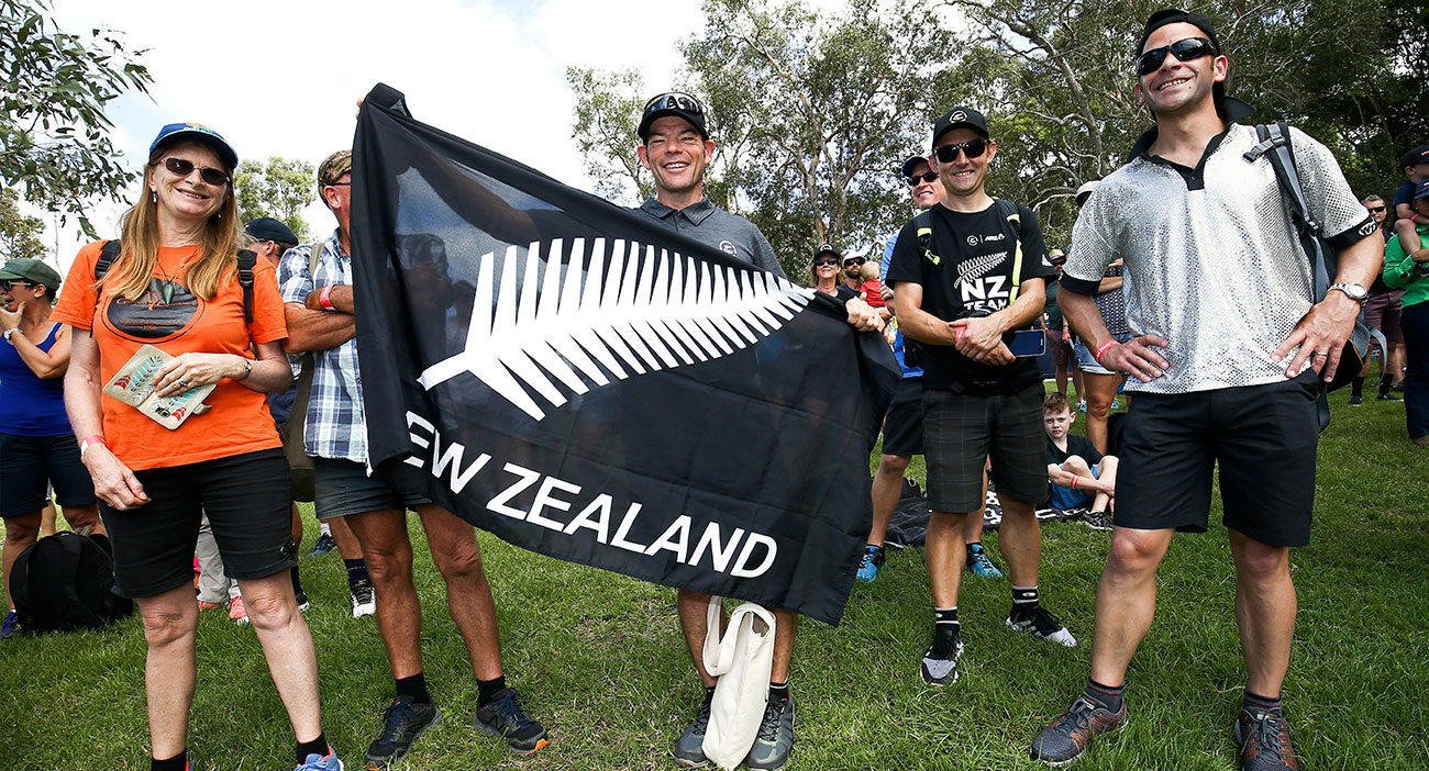 New Zealand fans at Mountain Bike