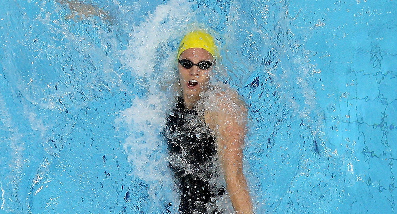 Emily Seebohm competes in the Women's 100m Backstroke at the London 2012 Olympic Games