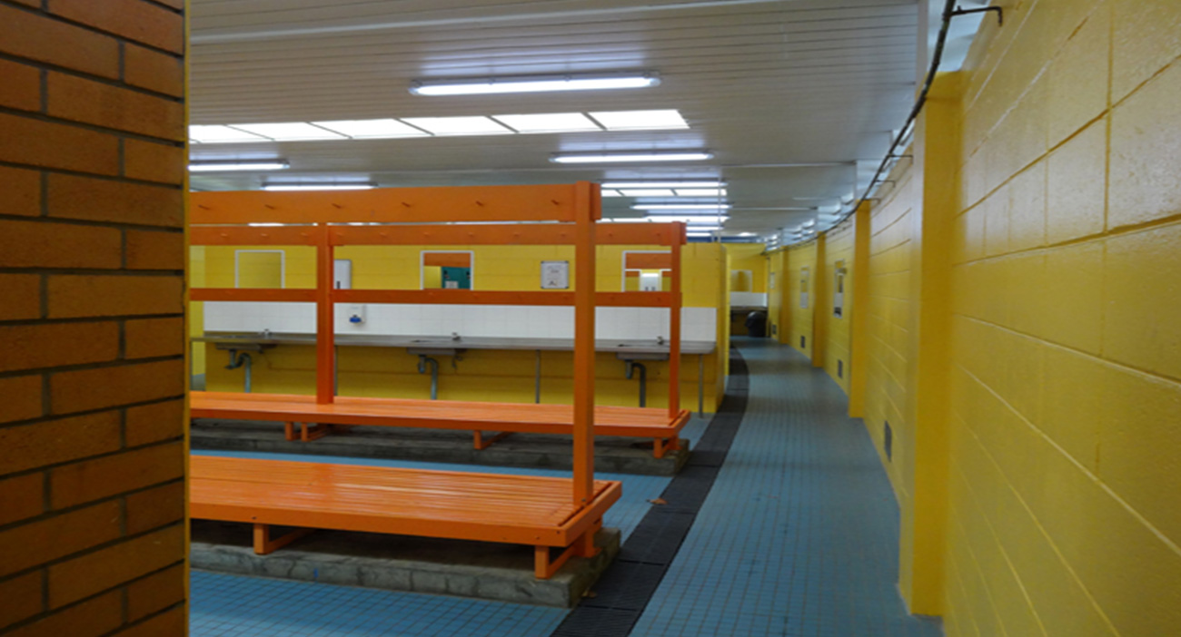 Changing rooms at the Gold Coast Aquatic Centre