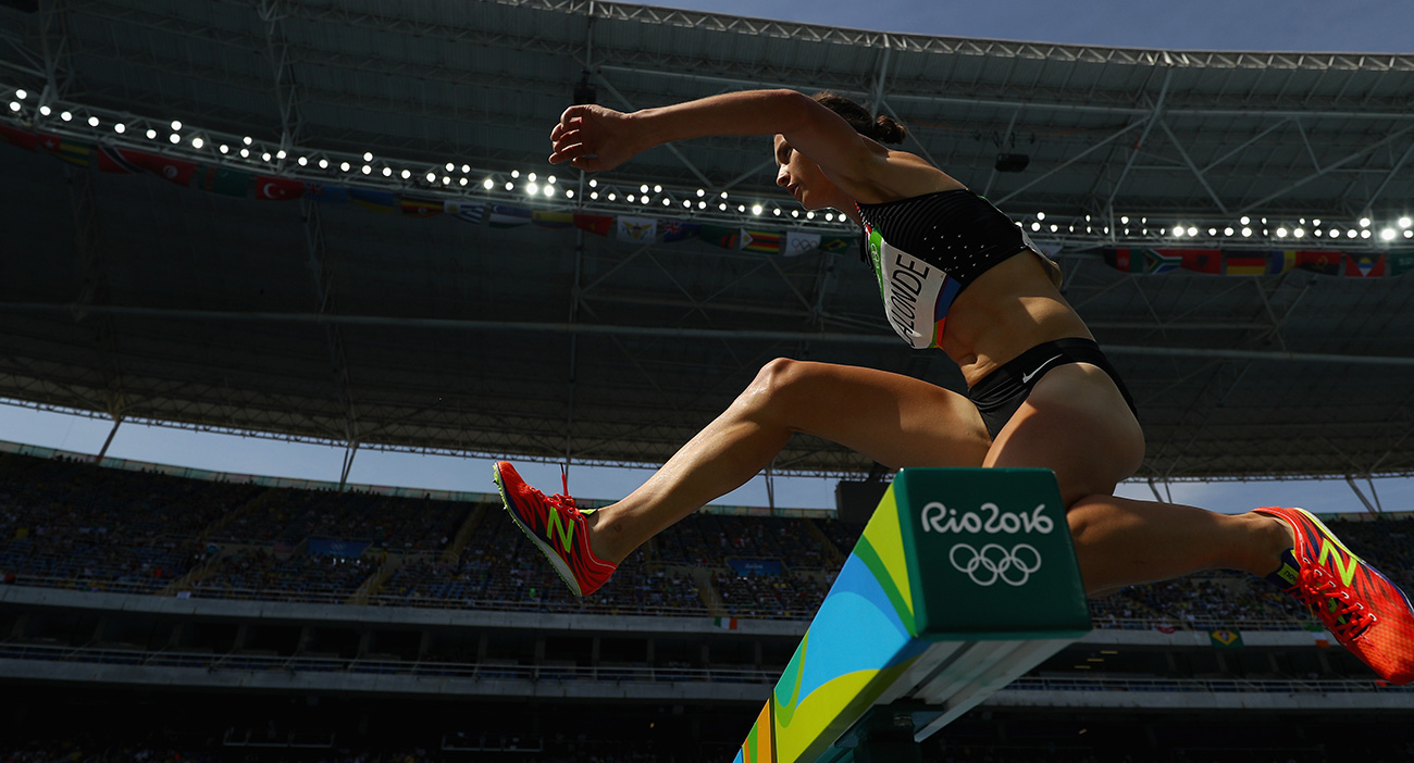 Genevieve competes at the Rio Olympics