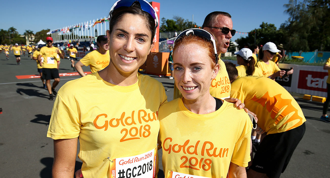 Ashleigh Gentle and Charlotte McShane at Gold Run