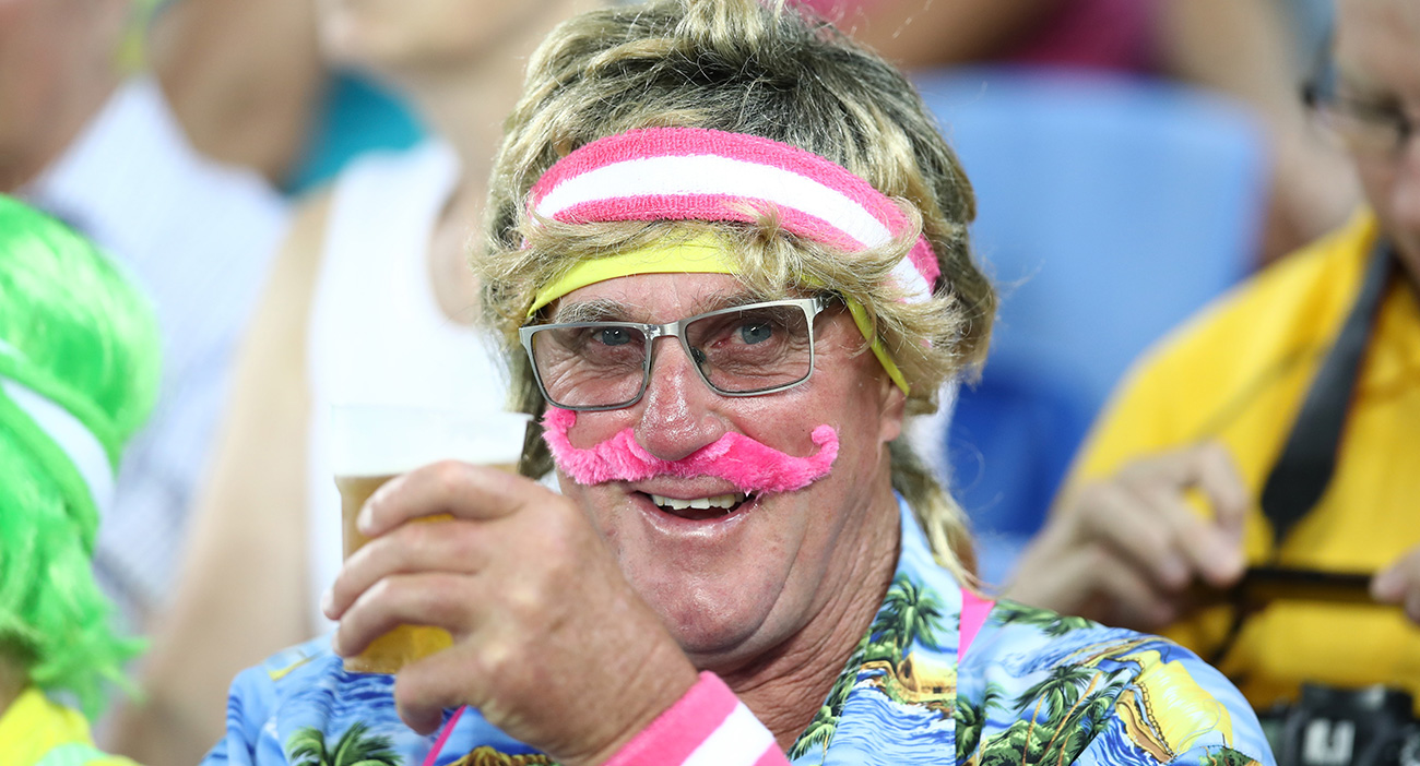 A fan at the Rugby Sevens