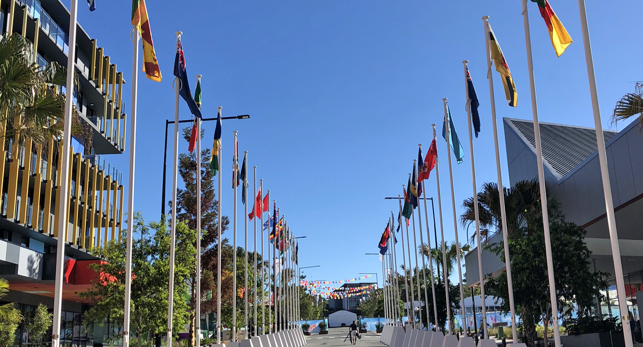 Flags of Nations on Village Way