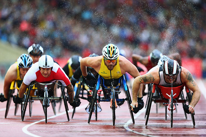 Kurt Fearnley OAM and other para athletes racing