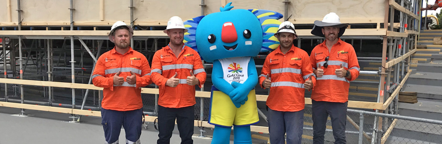 Queensland's number one industrial scaffolding company, Benchmark Scaffolding, has been appointed the Official Scaffolding Supplier for GC2018.