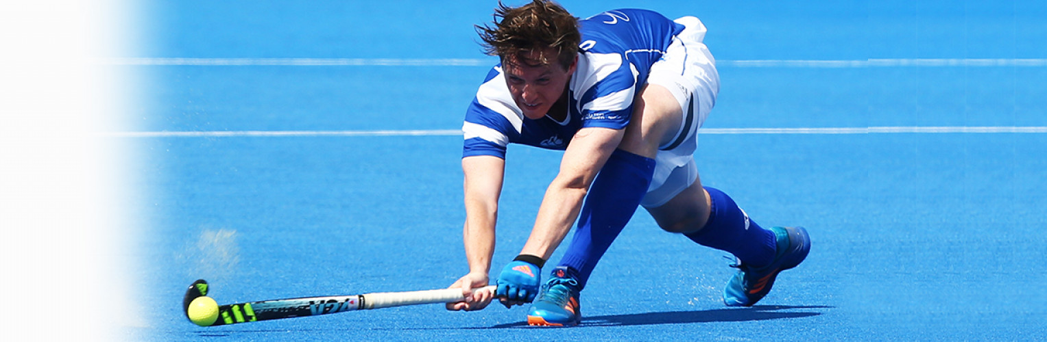 David Forsyth in action for Scotland on the hockey pitch.