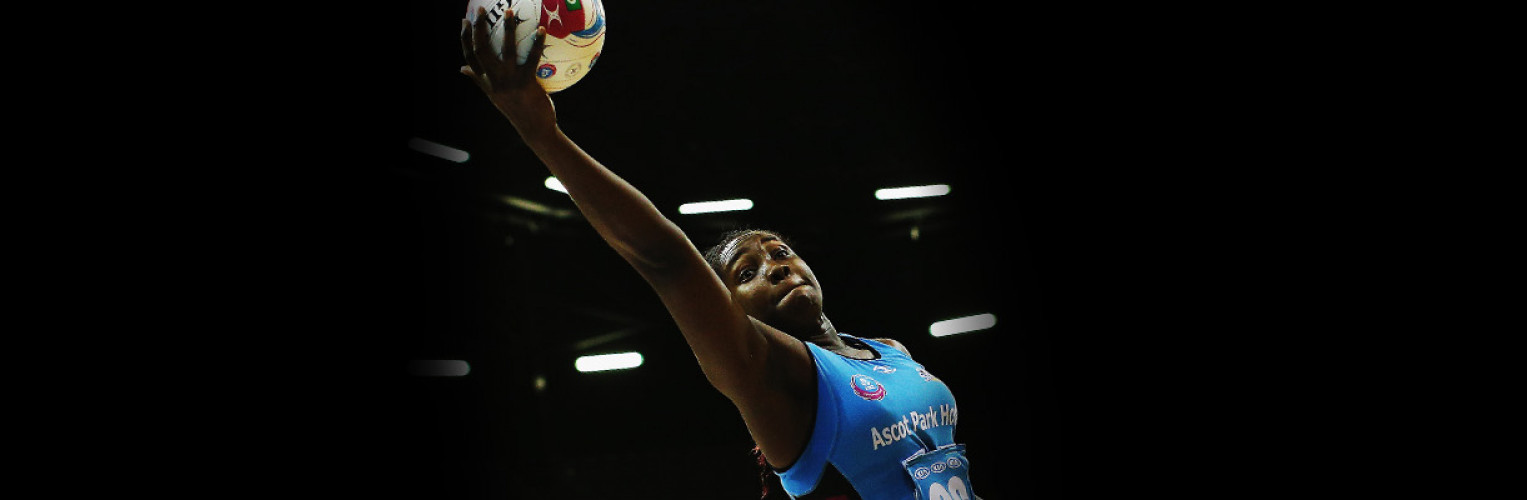 Jhaniele Fowler-Reid of the Steel secures posession during the ANZ Championship Elimination Final match between the Magic and the Steel.