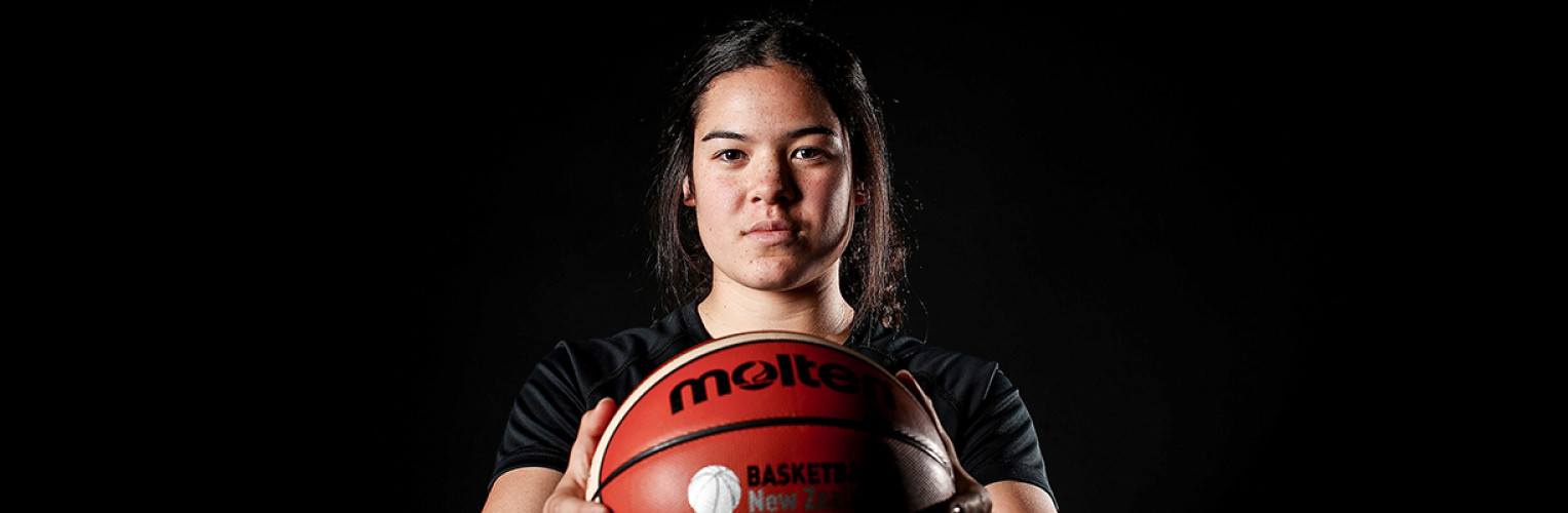 Charlisse Leger-Walker poses for a portrait during the New Zealand Commonwealth Games Basketball Headshots Session on June 8, 2017 in Auckland.