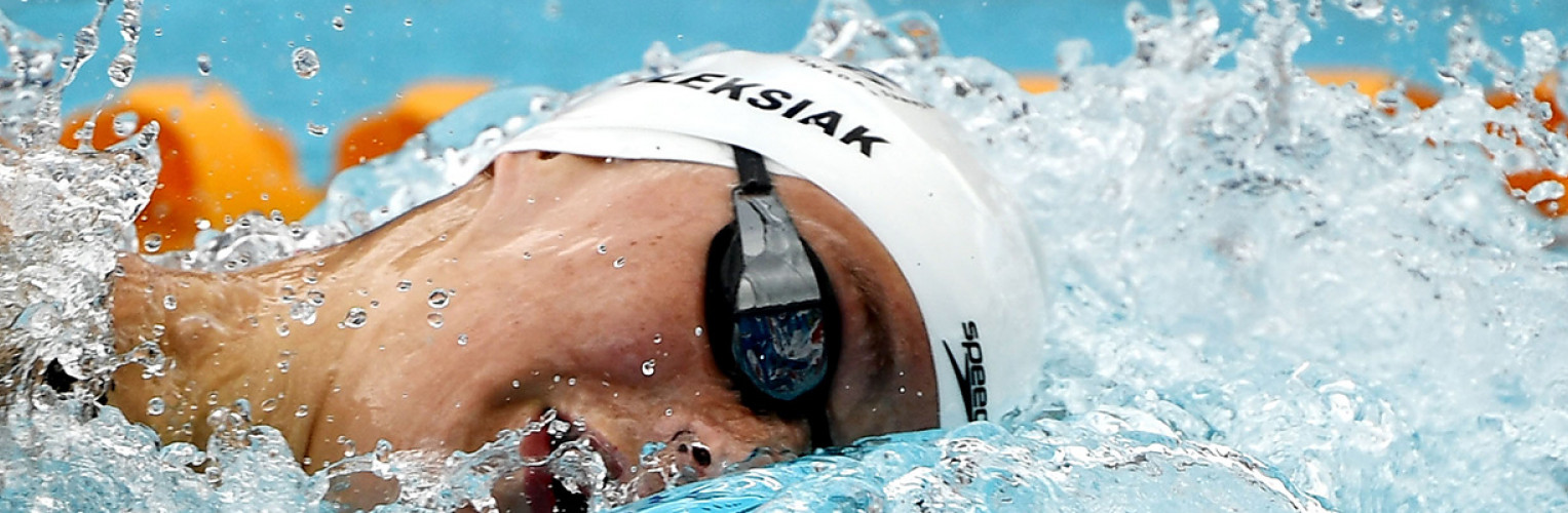 Penny Oleksiak swims during the heats of the 200m.