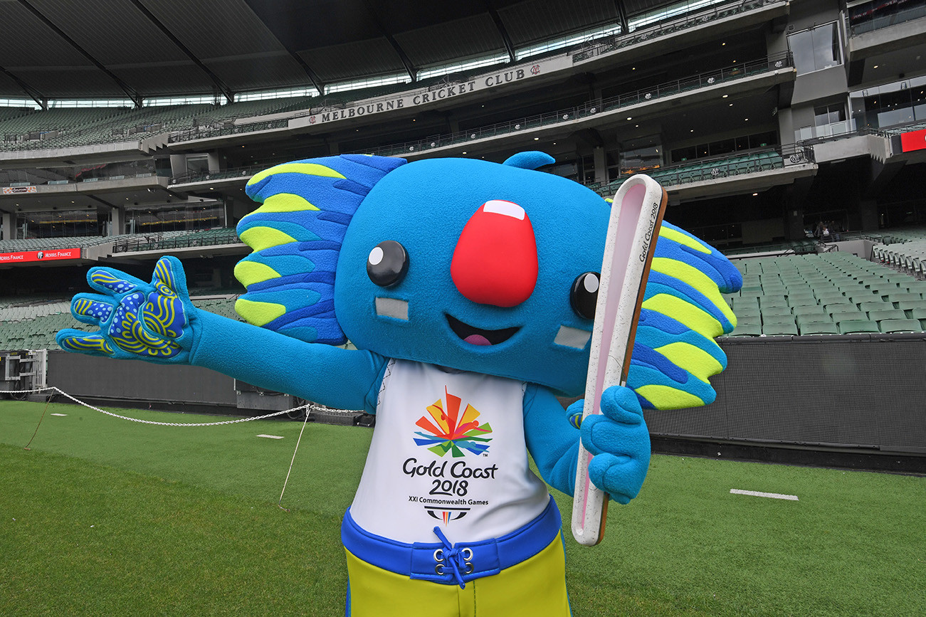 Borobi with the Queen's Baton