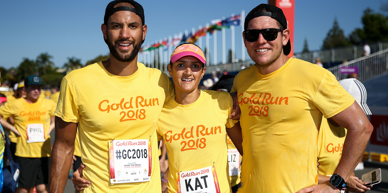 Gold Run 2018 entrants taking part in the 5km fun run