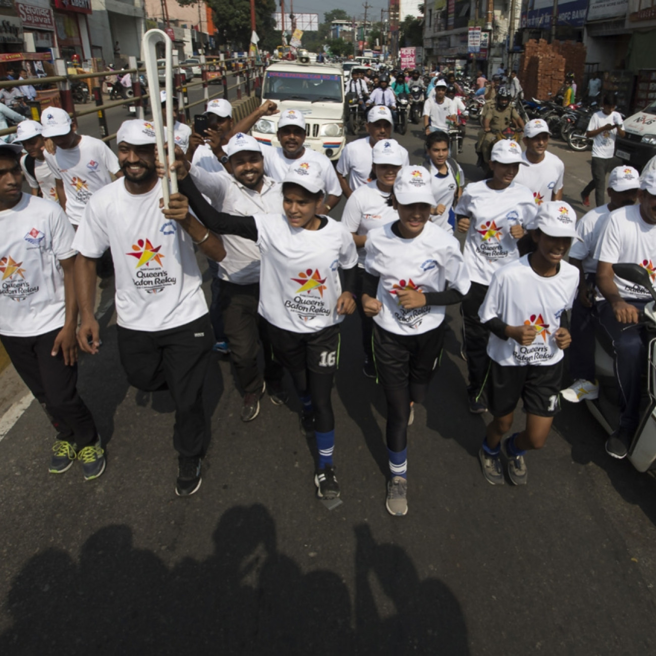 Local athletes with the Baton in Haridwar