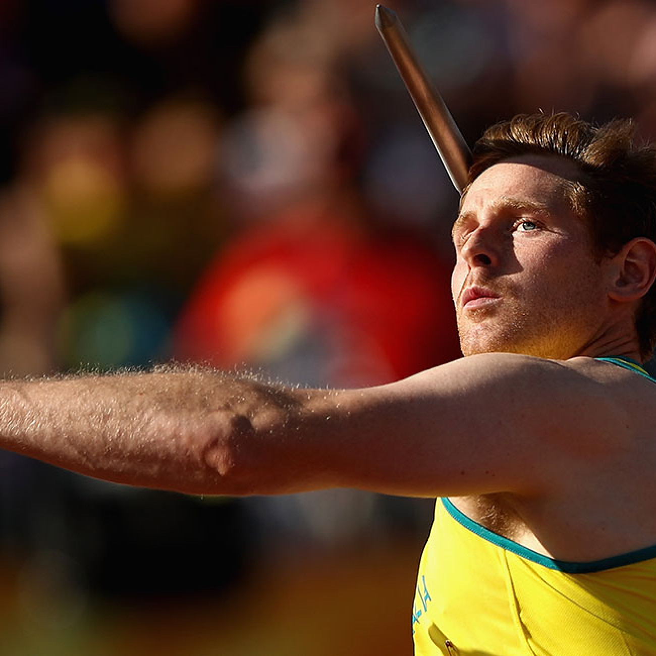 Hamish Peacock of Australia competes in the men's Javelin final.