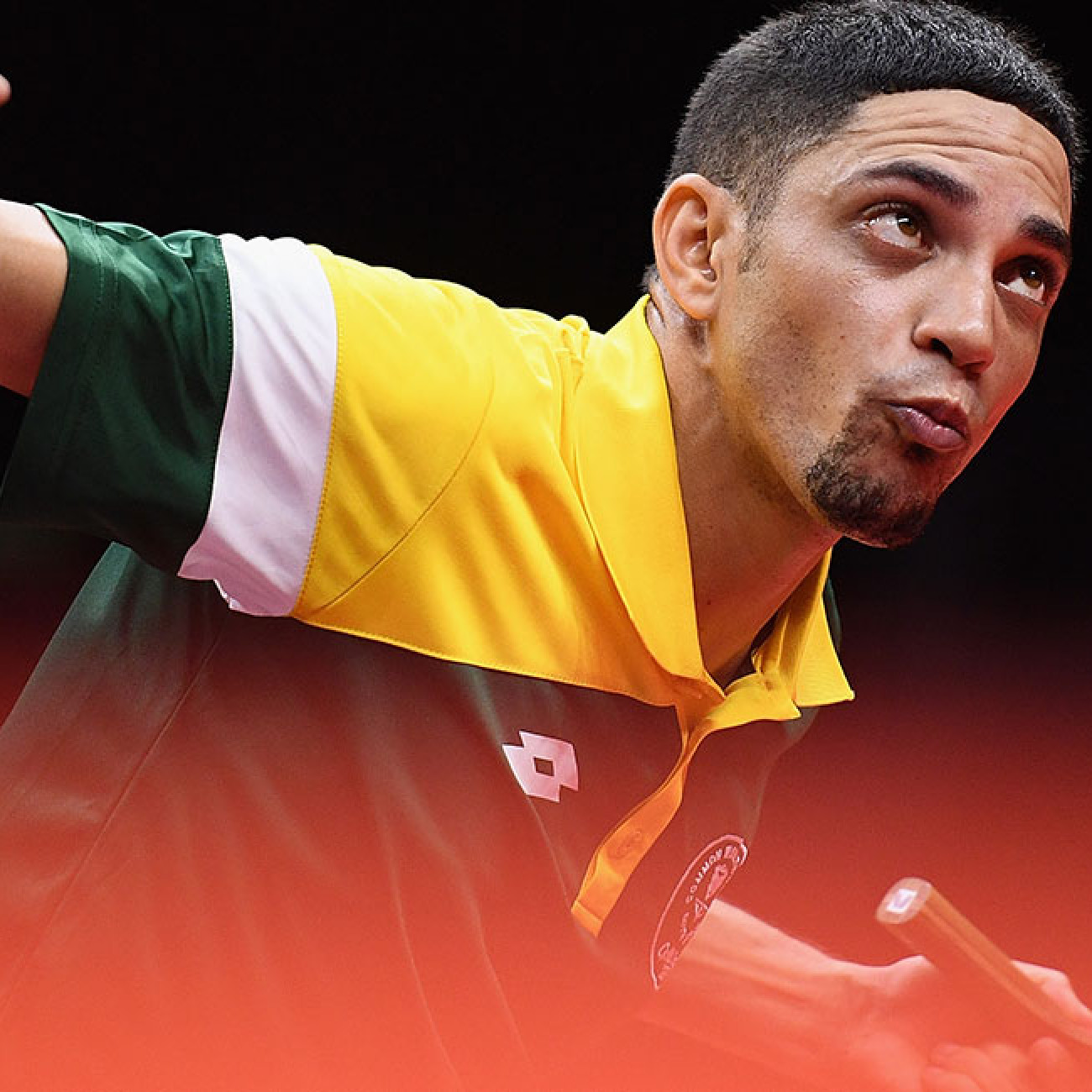 Theo Cogill of South Africa during the men's TT6-10 singles bronze medal Table-Tennis final.
