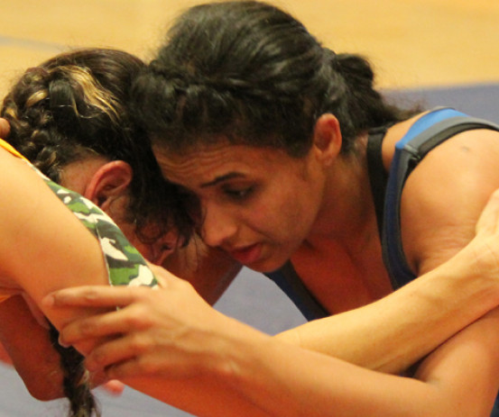 Rupinder Kaur trains ahead of the Australian National Wrestling Selection Competition.