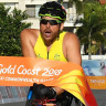 Kurt Fearnley wins gold in the men's T54 Marathon.