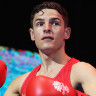 William Le Poullain of Guernsey during the Boxing on day one of the Gold Coast 2018 Commonwealth Games at Oxenford Studios on April 5, 2018 on the Gold Coast, Australia.