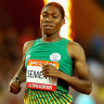 Caster Semenya wins the 800m recording a historic double after winning the 1500m.